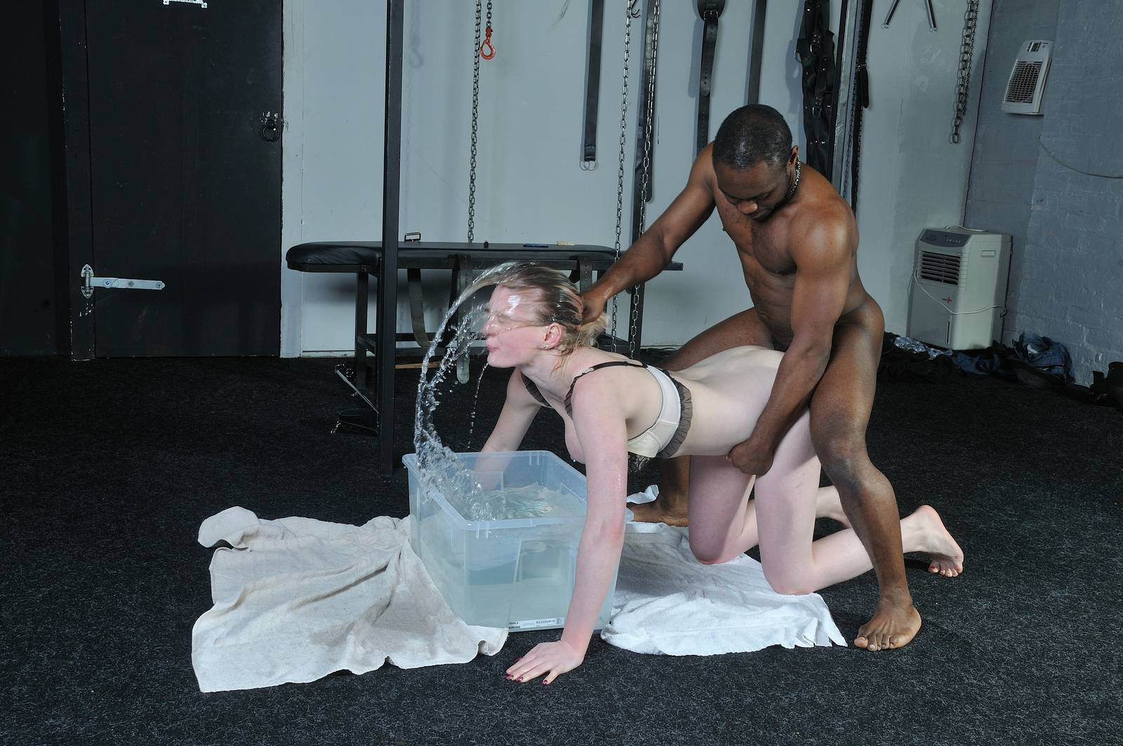 Sexual interracial domination of blonde carly rae blowjob photo 4
