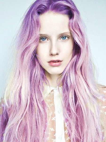 Amazing girl with multicolored hair has photo 2