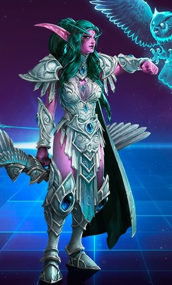 Warcraft world of warcraft night elf jaina proudmoore tyrande