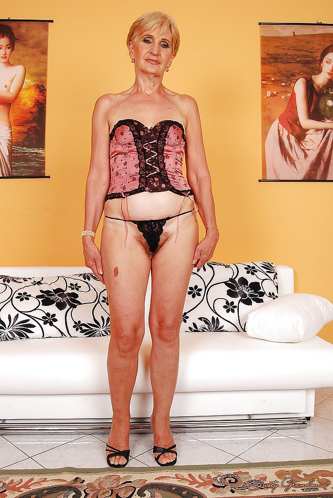 Hairy granny showing off photo 2