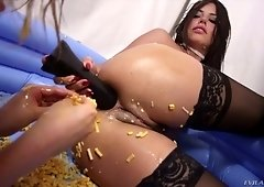 Food tube videos sex with food for dirty sluts getting photo 2