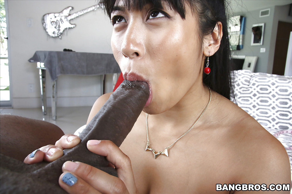 Black cock in asian ass