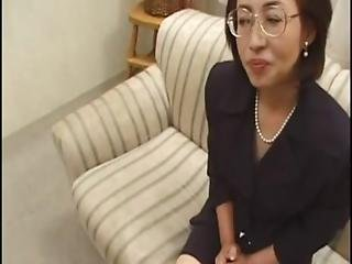 Japanese slender glasses mature makiko miyashita years japanese milf facial photo 4