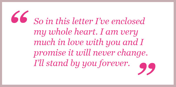 Love letters for a girl