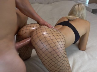 Teen russian blonde gets roughly forced to fuck